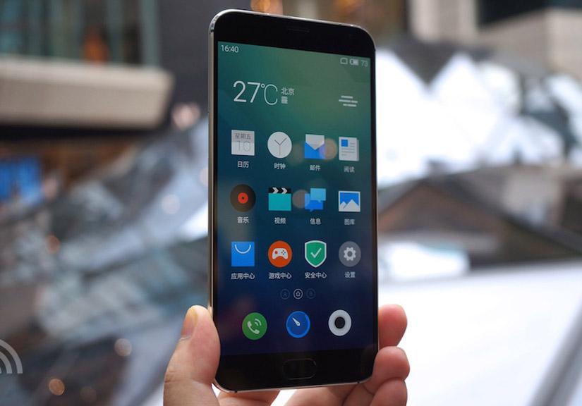 MX5 sở hữu màn hình 5,5 inch thiết kế kim loại nguyên khối, trang bị cảm biến vân tay ở nút Home. Ảnh: HĐ.