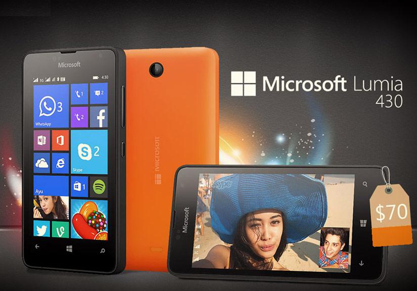Lumia 430 hai sim, hai sóng với thiết kế tinh tế là sản phẩm đang được nhiều người chọn lựa, mang đậm thiết kế của của dòng windows phone Lumia giá rẻ