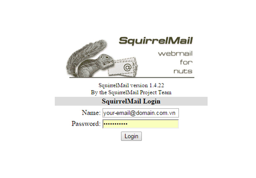 Thay link mặc định webmail Squirrelmail - RoundCube Directadmin