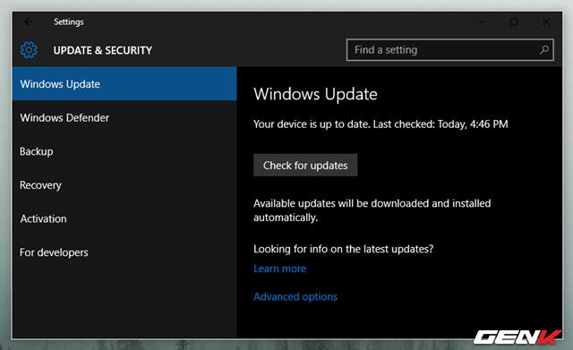 đã sử dụng Windows 10 thì bạn phải chấp nhận việc bắt buộc phải cập nhật thường xuyên