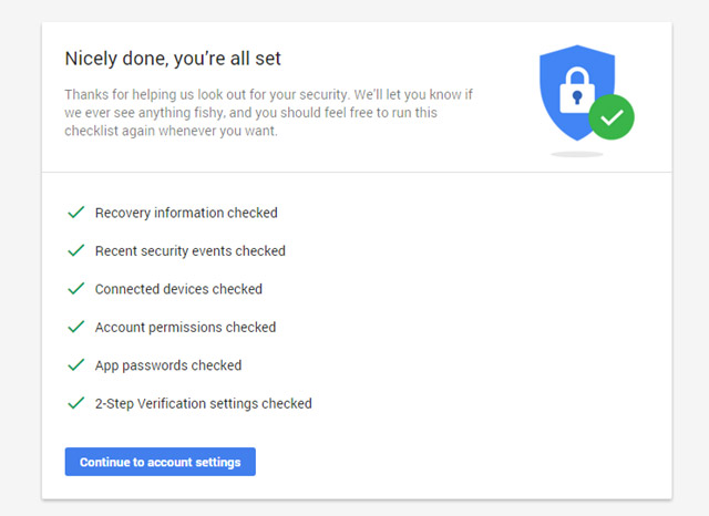 Google Security Checkup