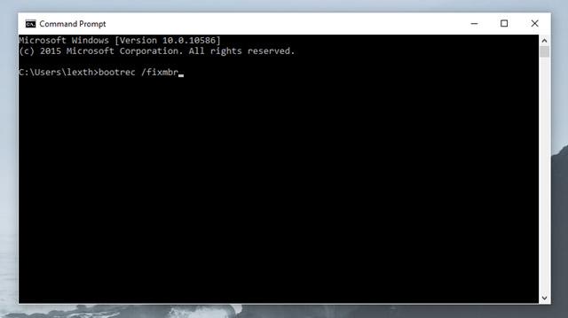 bootrec /fixmbr bootrec /fixboot bootrec /scanos bootrec /rebuildbcd