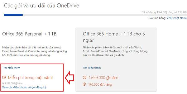 Microsoft Miễn Phí 1 Năm Sử Dụng Office 365 Personal Và 1TB OneDrive
