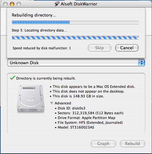 Disk Warrior có nhiều chức năng hữu ích cho việc cứu ổ đĩa bị lỗi.