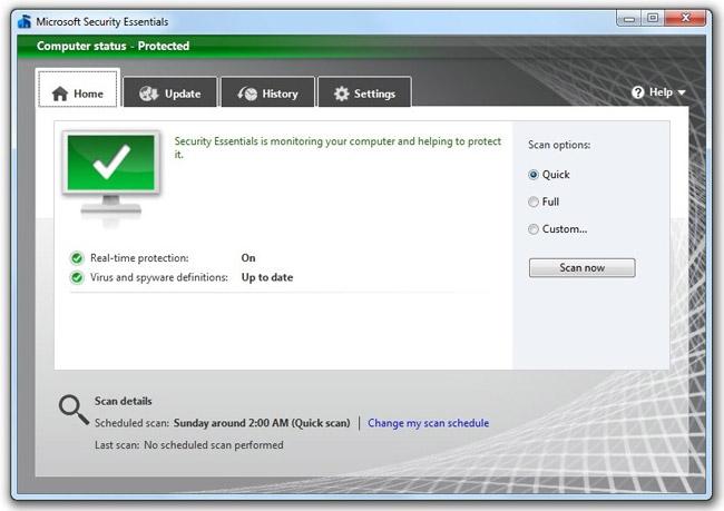 Microsoft Security Essentials hoàn toàn miễn phí và đơn giản