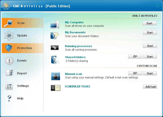 CMC Antivirus là phần mềm diệt virus hoàn toàn miễn phí dành cho người dùng cá nhân
