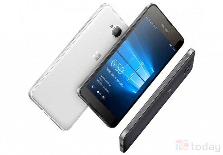 Hình ảnh chiếc smartphone Lumia 650.