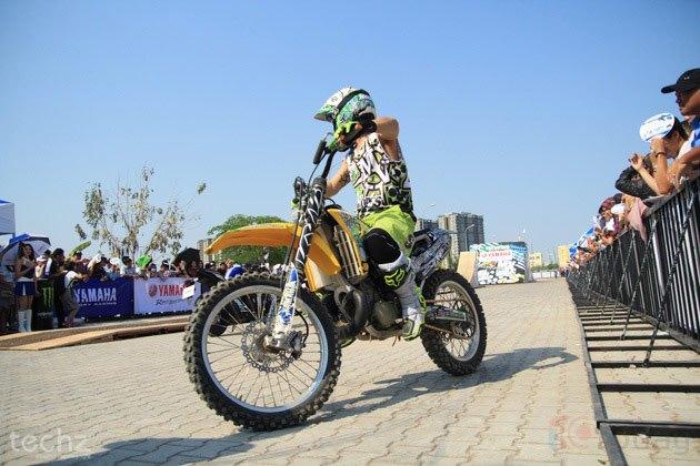 Yamaha có khá nhiều hoạt động ngoài trời hấp dẫn trong khuôn khổ triển lãm.