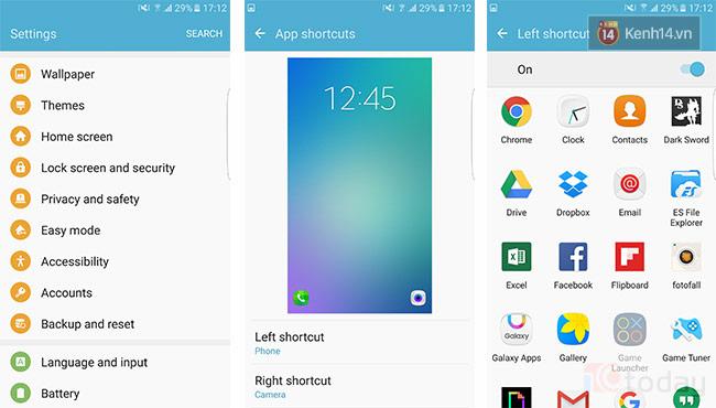 Thay đổi shortcut ứng dụng trên màn hình khóa