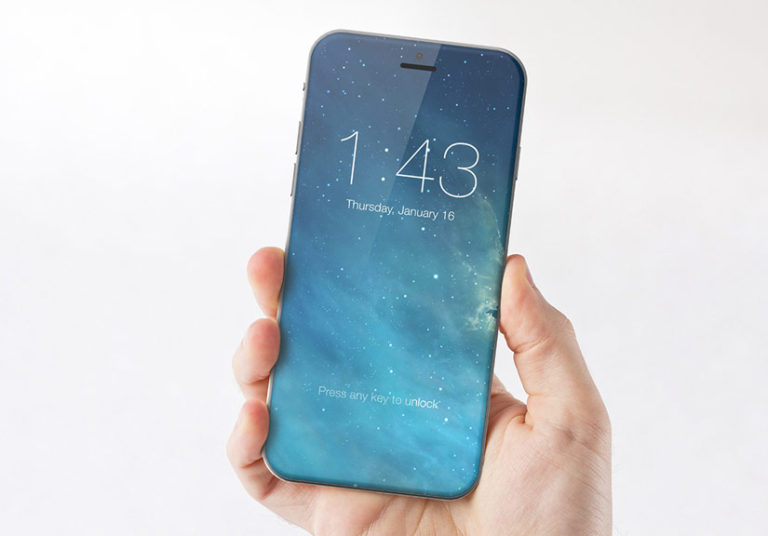 Ý tưởng iPhone với màn hình tràn mặt trước.