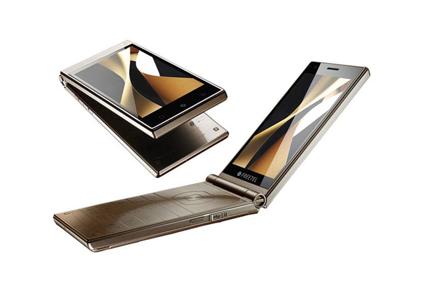 Freetel Musashi Smartphone nắp gập Nhật 2 màn hình sắp bán tại VN