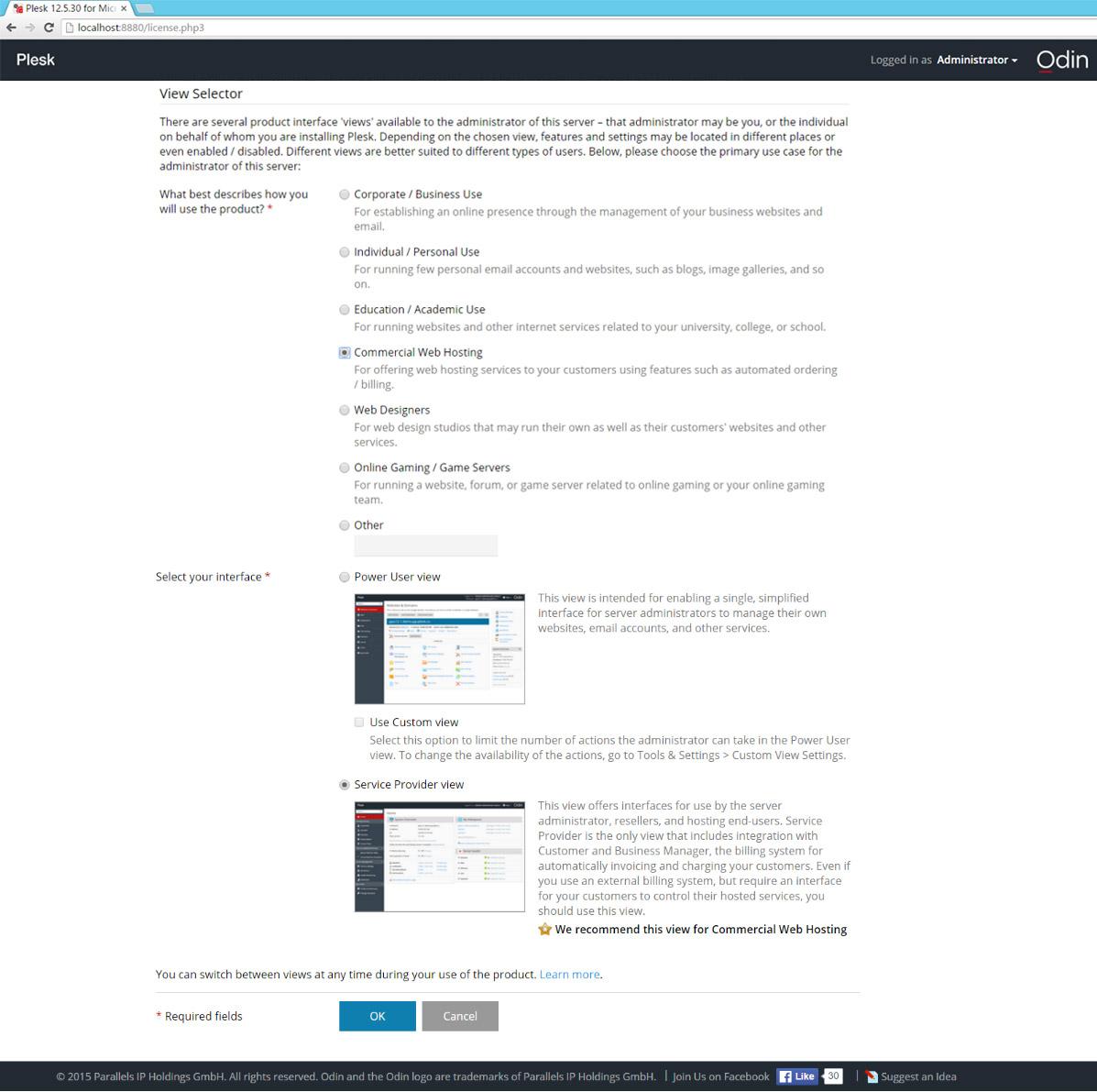 hướng dẫn bạn cài đặt Parallels Plesk (Plesk control panel)