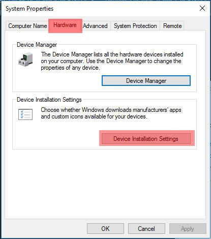 Tắt tính năng tự động cập nhật driver trong Windows 10
