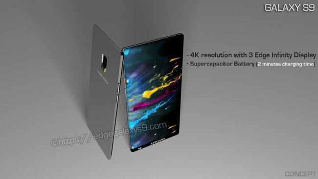 chức năng cảm biến vân tay toàn màn hình của Galaxy S9