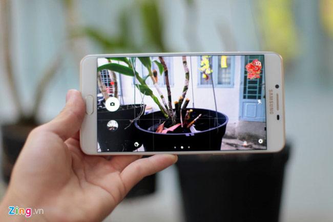 Máy ảnh Galaxy C9 Pro được làm tinh giản, thân thiện với người dùng