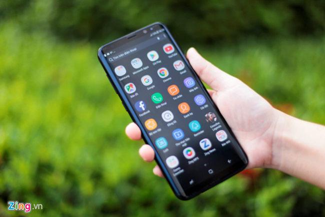 Diện tích hiển thị mặt trước của Samsung Galaxy S8+ lên đến 84%