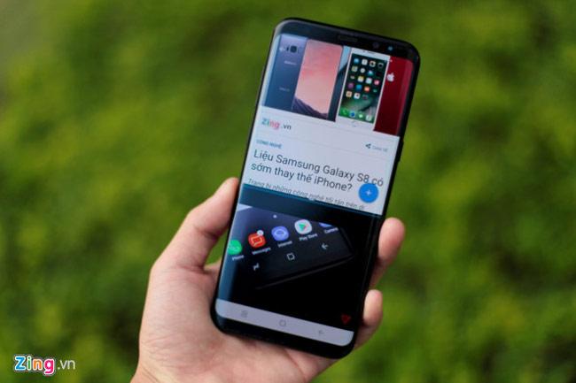 Tính năng chia đôi màn hình trên Samsung Galaxy S8 Plus