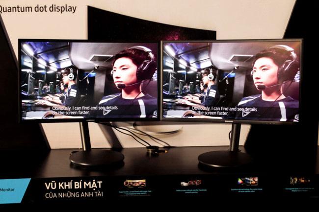 Samsung CFG70 cũng dùng công nghệ hiển thị Quantum dot