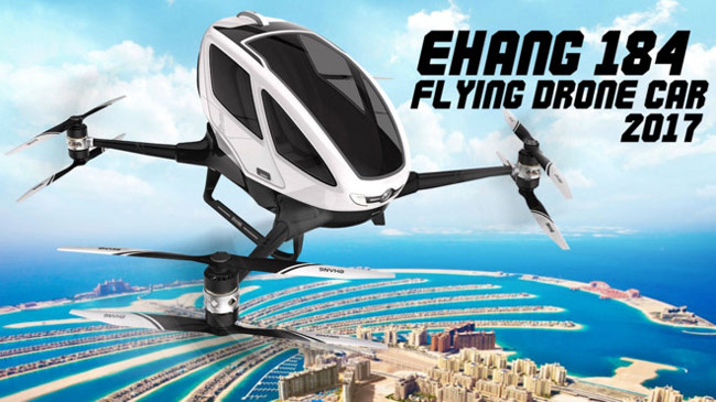 Mẫu xe bay mà hãng EHang Trung Quốc định thử nghiệm trong năm nay tại Dubai