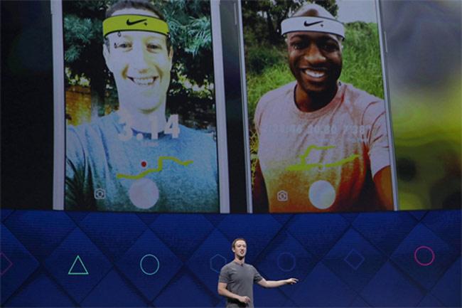 Ứng dụng AR cho camera của Facebook.