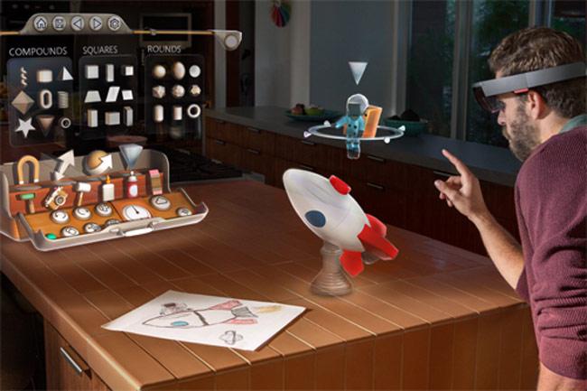 Kính HoloLens hiển thị các vật thể ngay trong môi trường thực