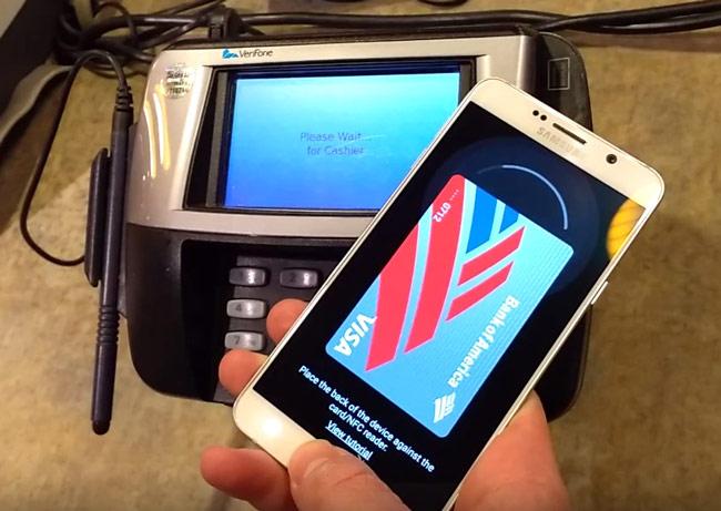 Samsung Pay có thể thanh toán bình thường với các đầu đọc thẻ