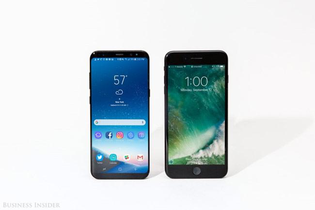 Màn hình Samsung cho màu sắc đẹp mắt và tiết kiệm điện hơn so với iPhone