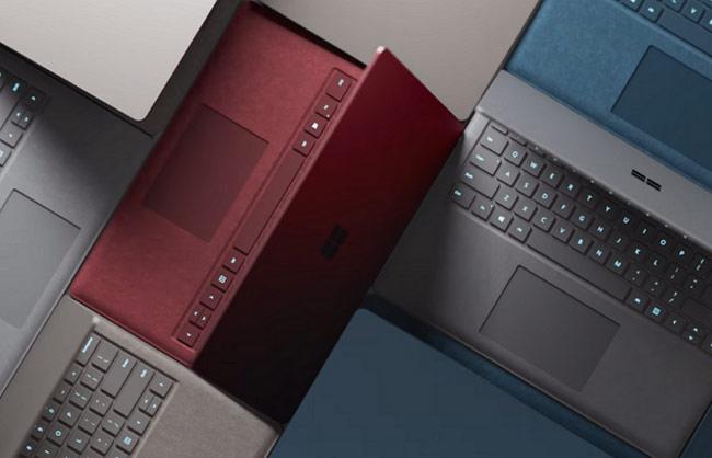 Surface Laptop đều được trang bị đầy đủ những màu sắc