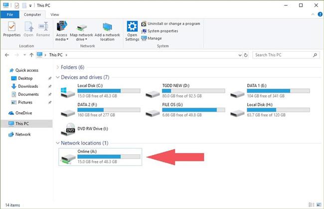 Biến OneDrive thành ổ đĩa riêng biệt trên máy tính