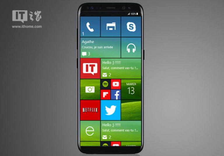 Galaxy S8 chạy Windows 10 Mobile lộ ảnh