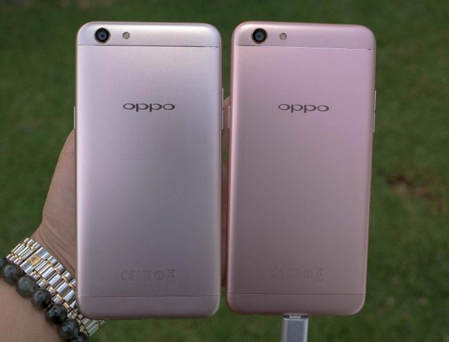 Oppo F3 có thiết kế nguyên khối với vỏ kim loại và khung viền nhựa