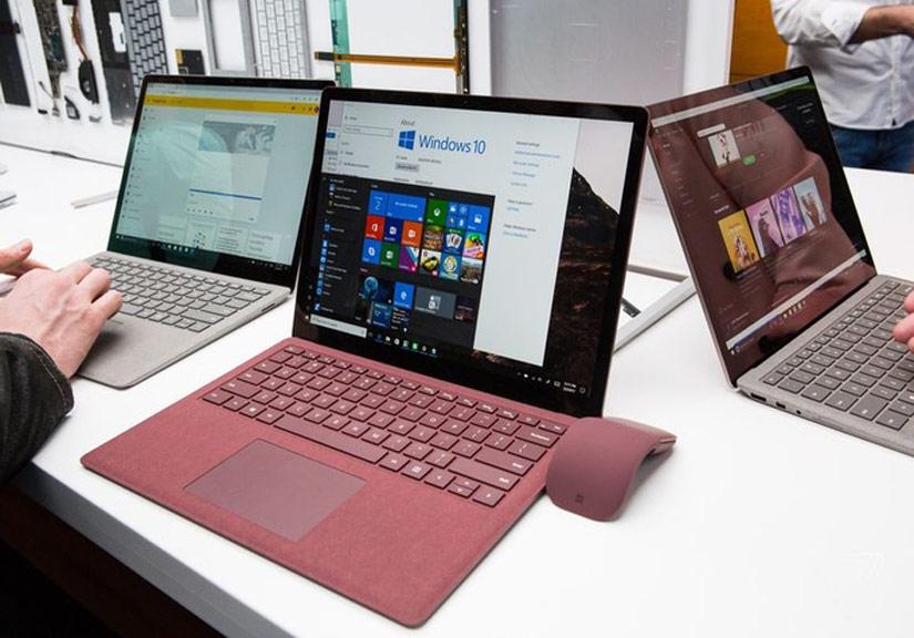 Surface Laptop trình làng với pin 14,5 tiếng, bàn phím bọc vải