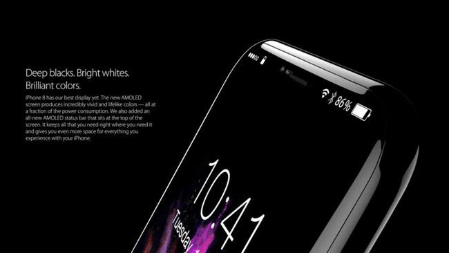 Bề mặt iPhone 8 trang bị màn hình OLED cong tràn 2.5D