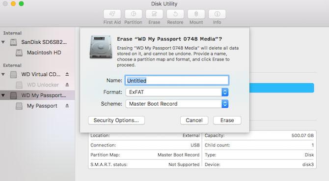 Format USB dưới dạng exFAT