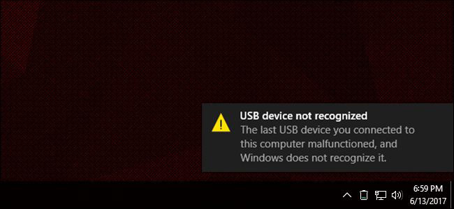 "Xử lý lỗi ""USB Device Not Recognized"" trên Windows"