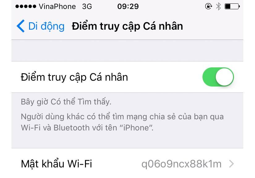 Hướng dẫn phát sóng WiFi từ iPhone/iPad cho điện thoại và máy tính
