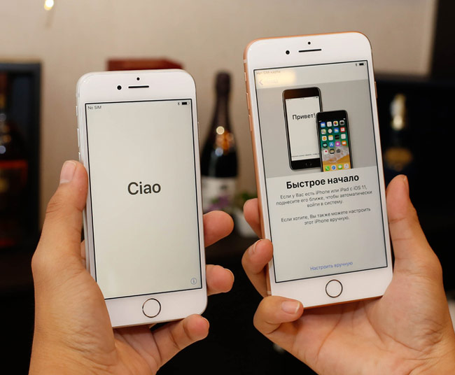 iPhone 8 và 8 Plus có màn hình lần lượt 4,7 inch và 5,5 inch