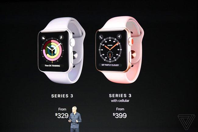 Watch Series 3 có giá từ 329 USD