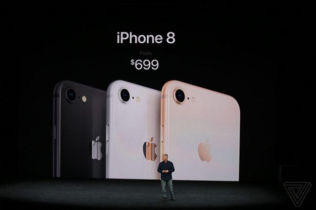iPhone 8 giá từ 699 USD