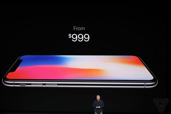 iPhone X giá từ 999 USD
