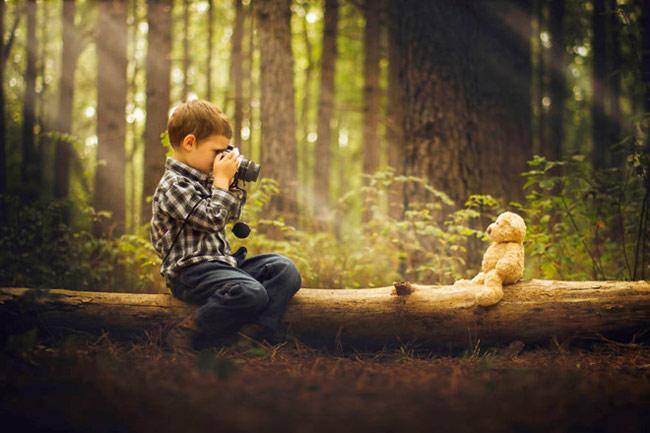 Một trong những bức ảnh Phillip Haumesser chụp cậu con trai mình bằng bộ thiết bị giá 200 USD.