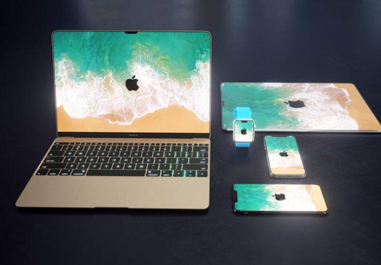 Ý tưởng MacBook, iPad cũng có 'tai thỏ' như iPhone X