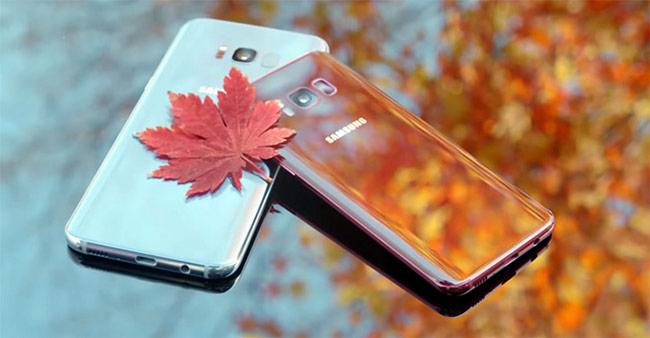 Ảnh thực tế Galaxy S8 màu đỏ tía