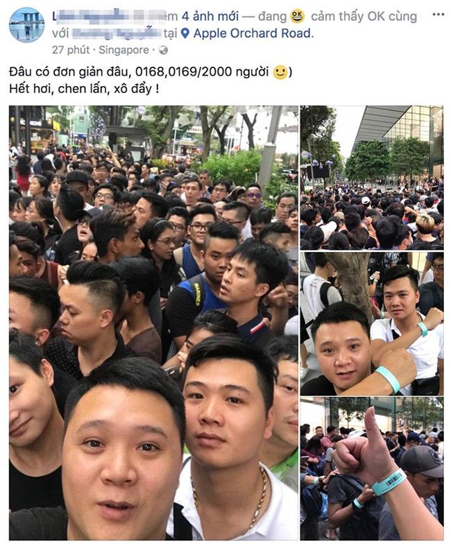 nhiều người Việt cũng tham gia xếp hàng để mua iPhone X