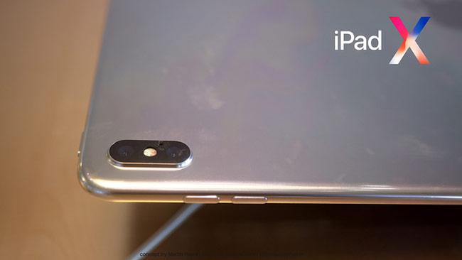 Camera kép của iPad X cũng đặt dọc