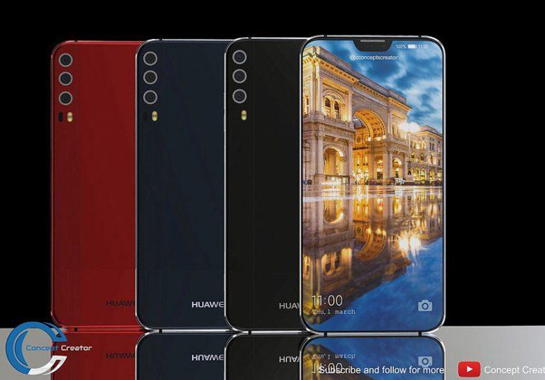 Thiết kế Huawei P11 với 'tai thỏ' phong cách iPhone X