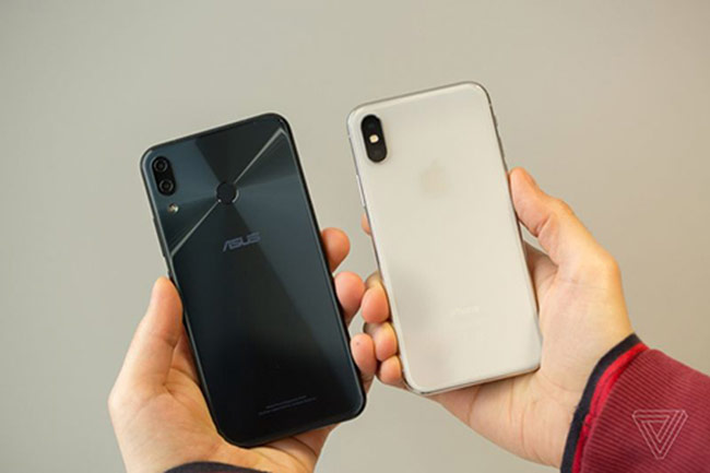 Asus ra Zenfone 5 thiết kế giống iPhone X
