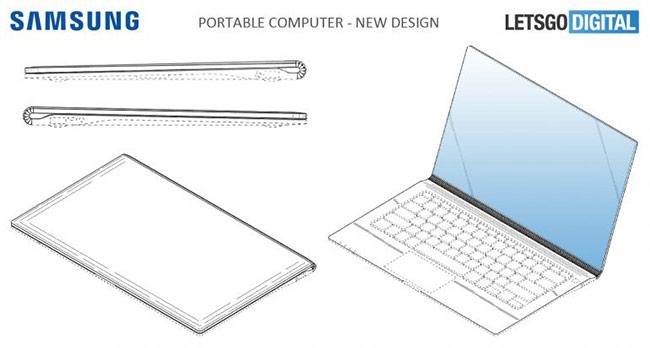 Samsung đang phát triển laptop màn hình không viền