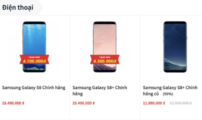 Galaxy S8 ở Việt Nam giảm giá vì Galaxy S9