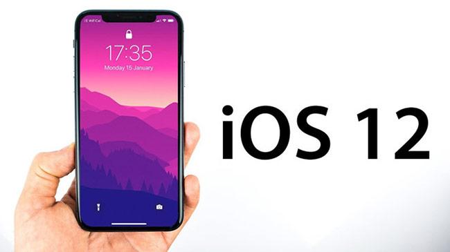 Cập nhật iOS 12